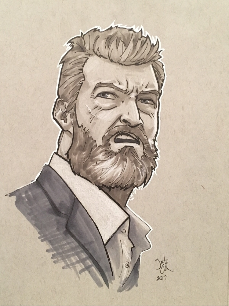 enjoyed Logan - sketch, drawing - justincline | ello