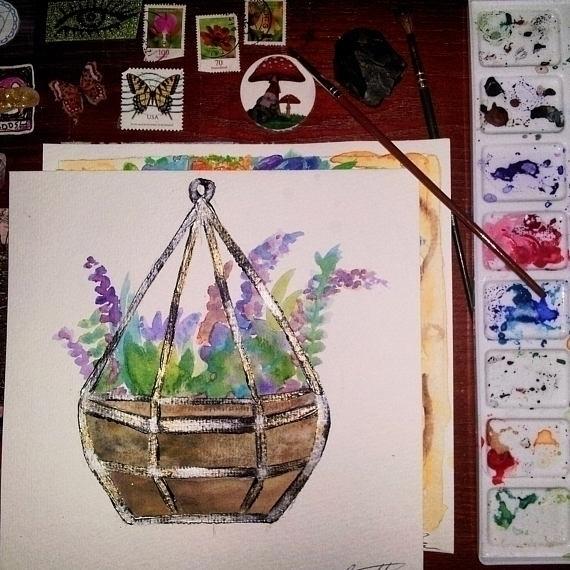 beautiful Watercolor Succulent  - mintroyaleshop | ello