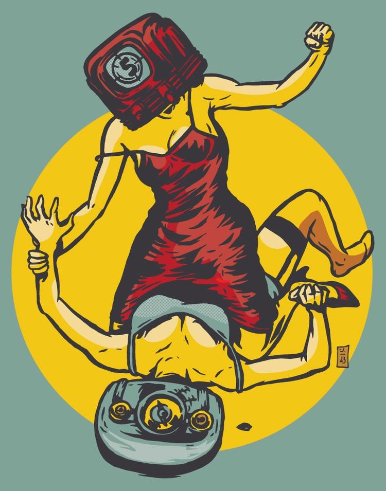 Media War - illustration - thomcat23 | ello