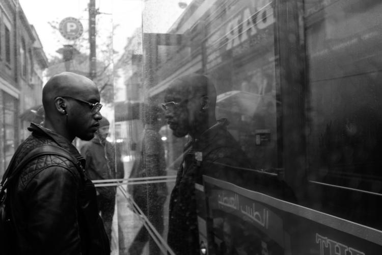 Reflection Rain - 501project#streetcars#commute#rain#commuting#reflection#waitingforbus#SvetlanaYanina#bw#blackandwhite# - svetlanayanina   ello