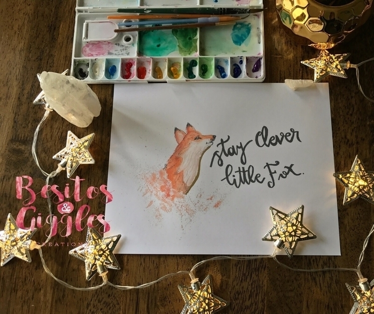 Stay clever 🦊 - fox, watercolor - besitosandgiggles | ello