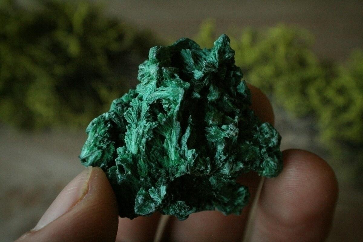 Fibrous Malachite specimen shop - ancientmountaintreasures | ello