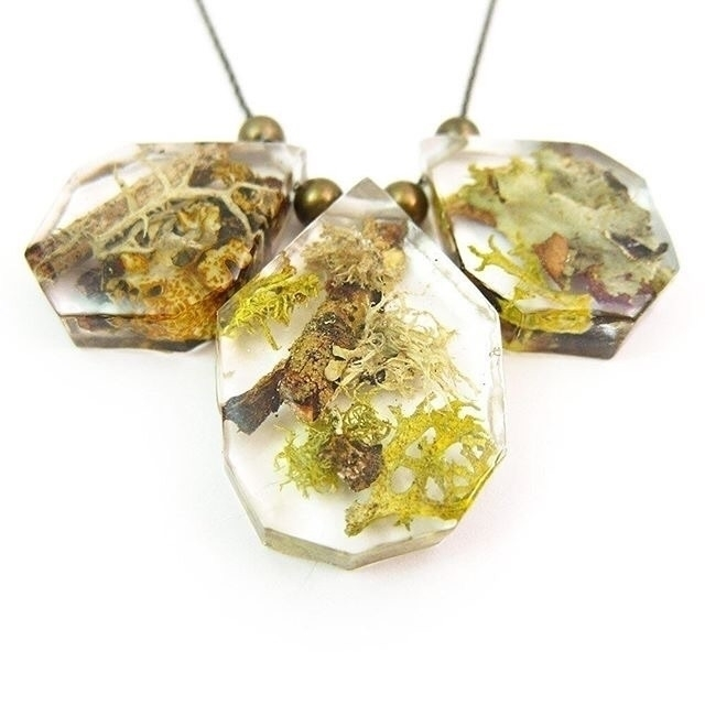 Eco resin terrarium necklace - squidlicks | ello