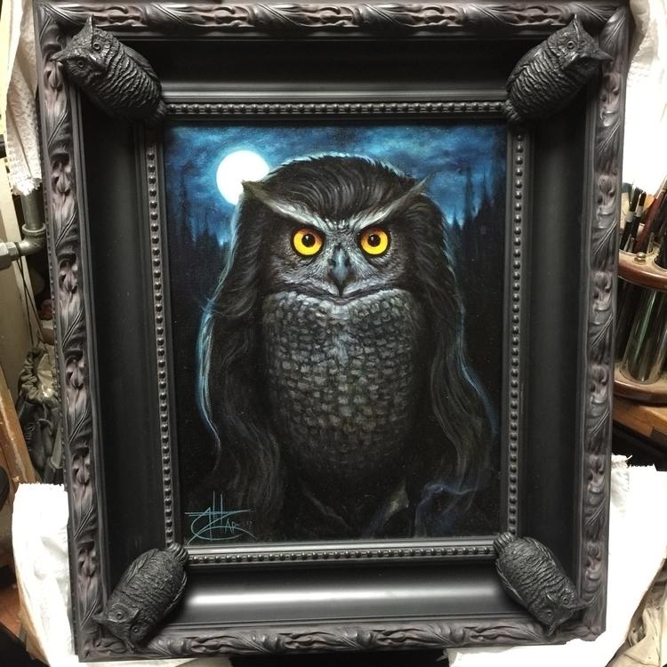 Owls oil canvas 2017 - chetzar | ello
