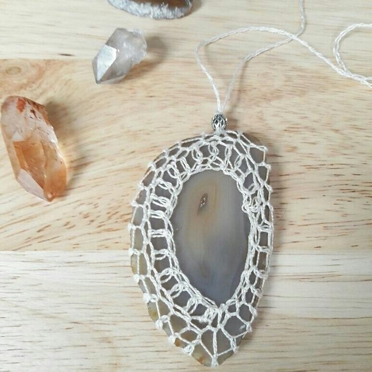 Agate Amulet Necklace - emknits | ello