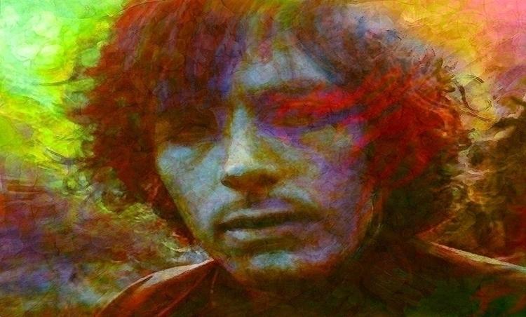 Syd Portrait Barrett. Inks, rag - alanbrooksart | ello