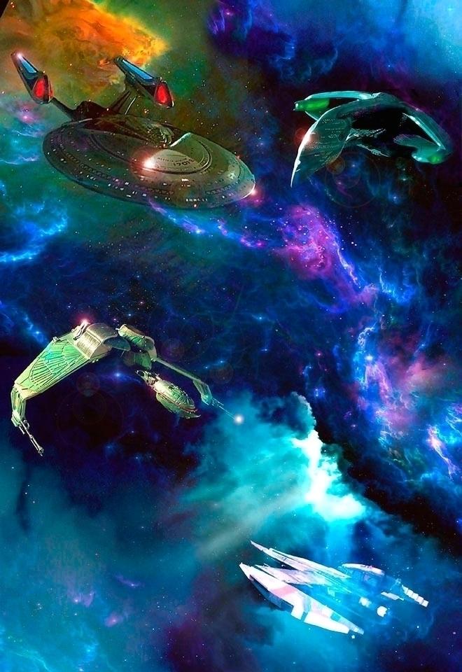 Star Trek ships project worked  - alanbrooksart | ello