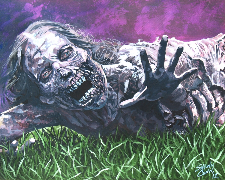 zombies, thewalkingdead, acrylicpainting - shawnconn-8645 | ello
