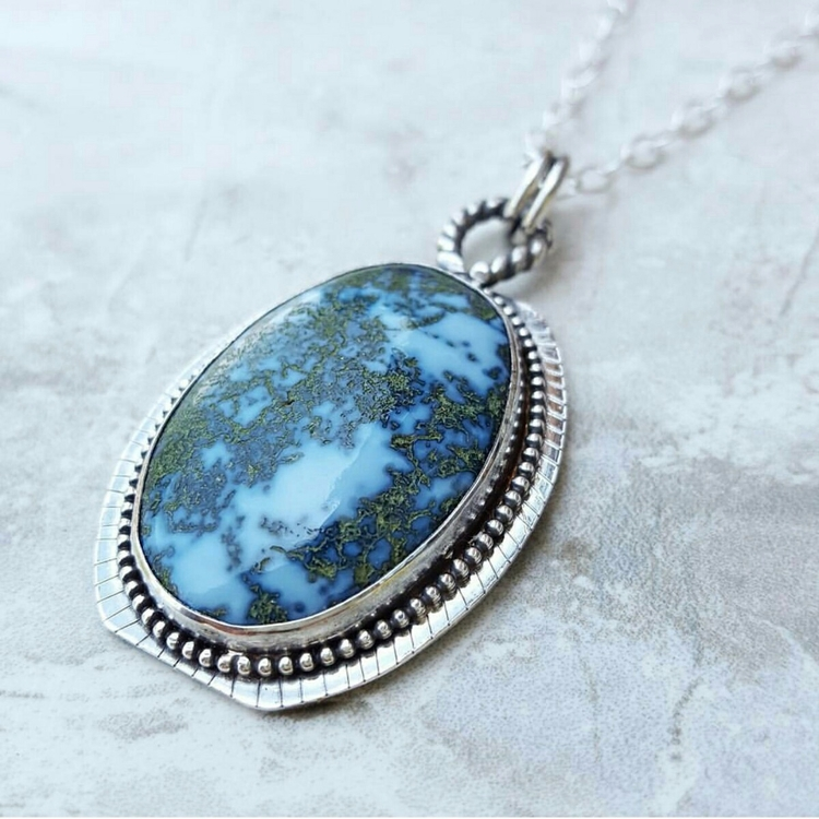 Owhee blue Opal necklace. world - kjohnsonjewelry | ello