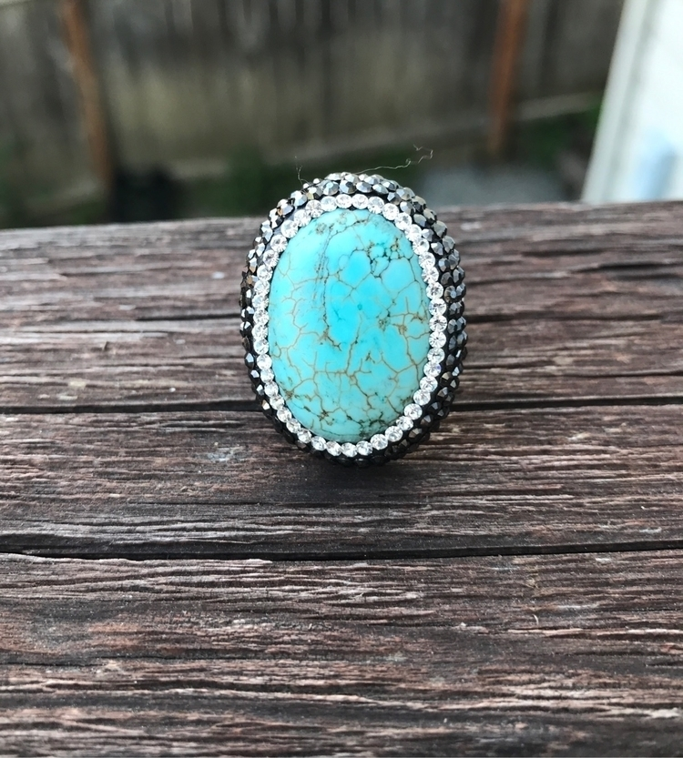 lova - turquoise, pave, statementring - sirendesigns | ello