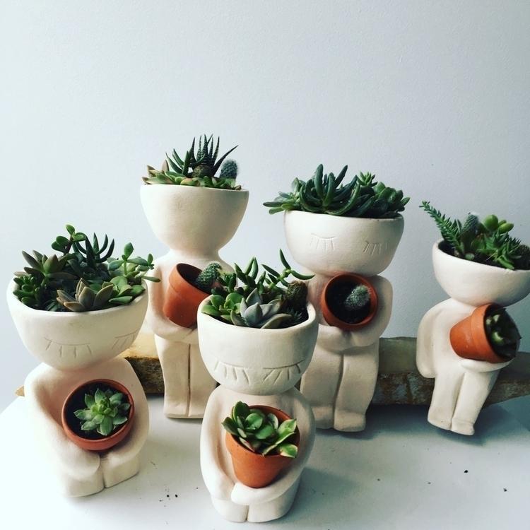 Handmade dude pots - ceramics#pots#succulents#pottery#handmade - livingdecortwins | ello