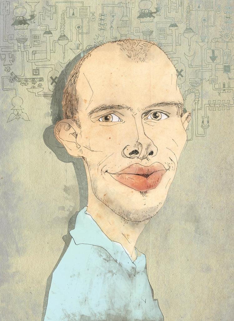 Luca - caricature - alinabradu | ello