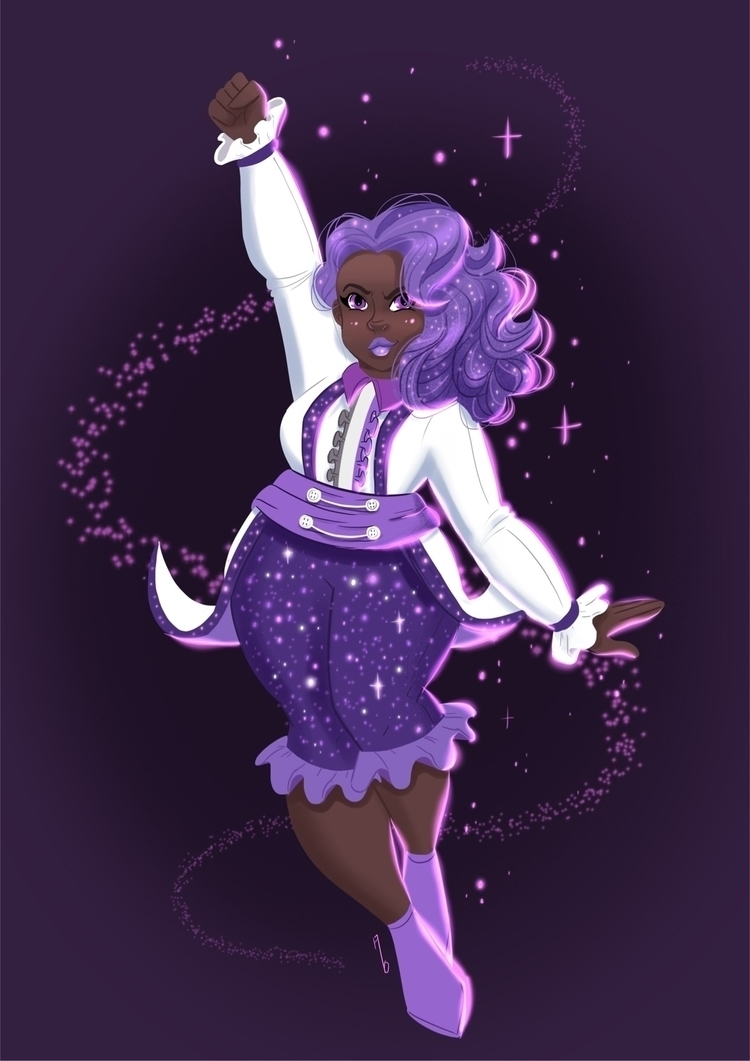 Galactic Purple commission art  - mustashleigh | ello
