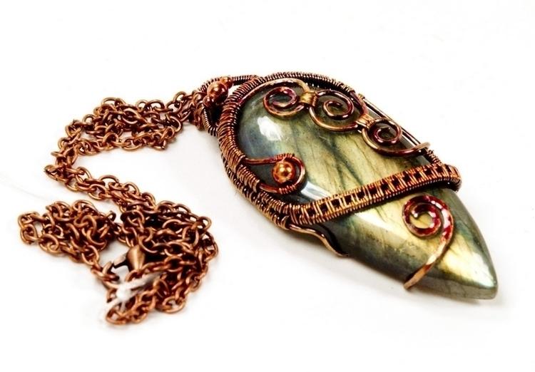 Labradorite Copper. Rainbow oxi - owlsnestdesignstudio | ello