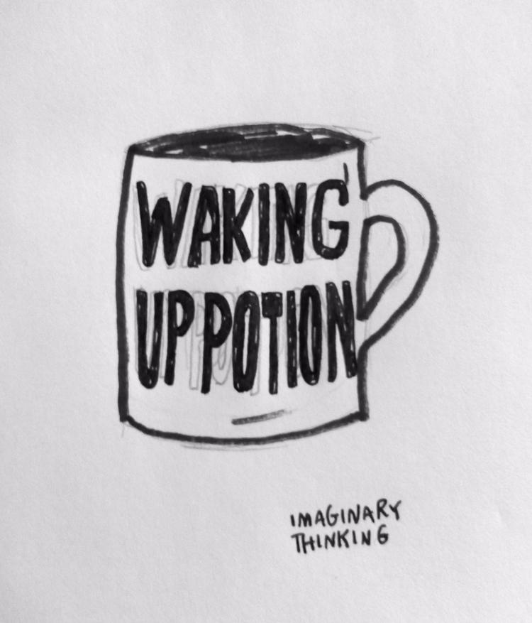 idea mug Daily doodle - 484, dailydoodles - imaginarythinking | ello