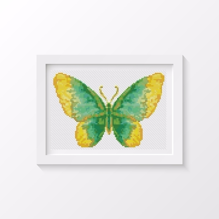 Butterfly Series: Dew MINI Cros - theartofstitch | ello