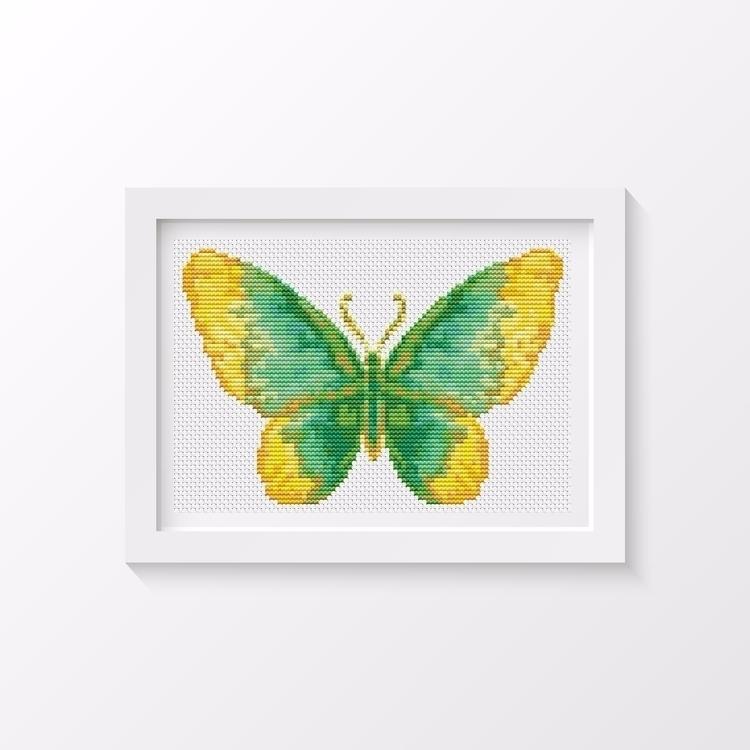 Butterfly Series: Dew MINI Cros - theartofstitch | ello