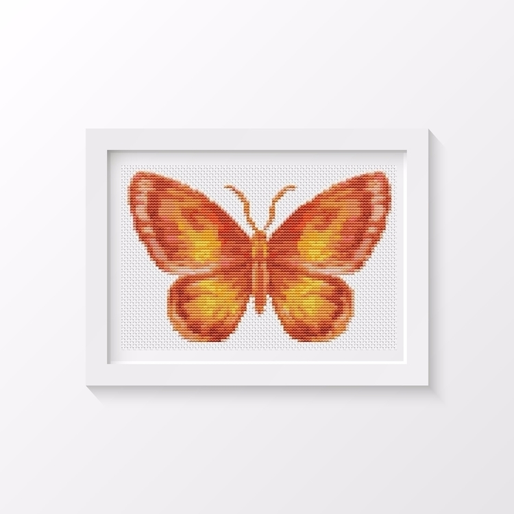 Butterfly Series: Flame MINI Cr - theartofstitch | ello