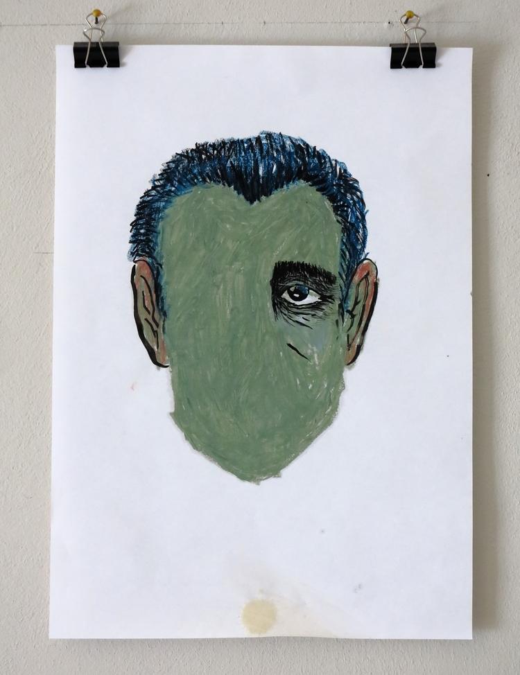Depression - portrait, oil, pastels - missingsock | ello