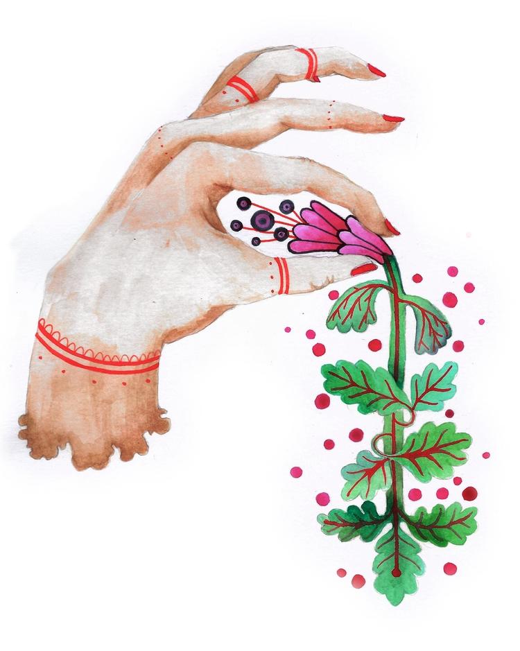 wait minute, beginning flourish - popia_illustration | ello