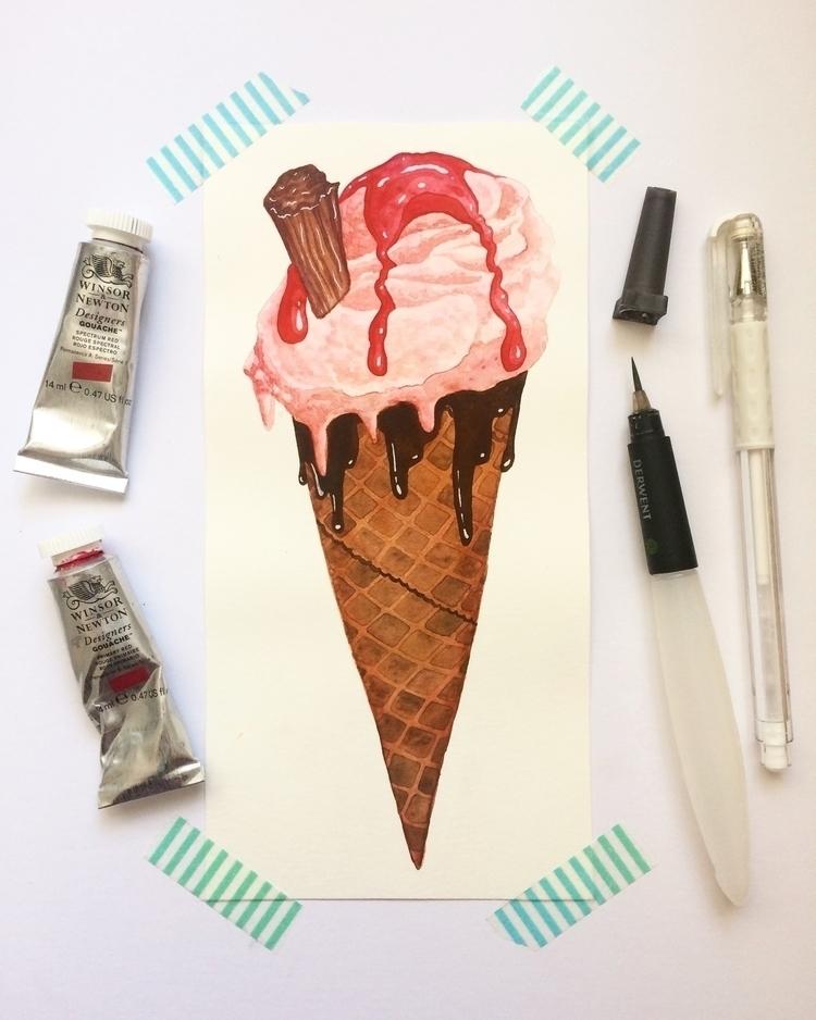 ice cream kind day:icecream - art - zowiegreen | ello
