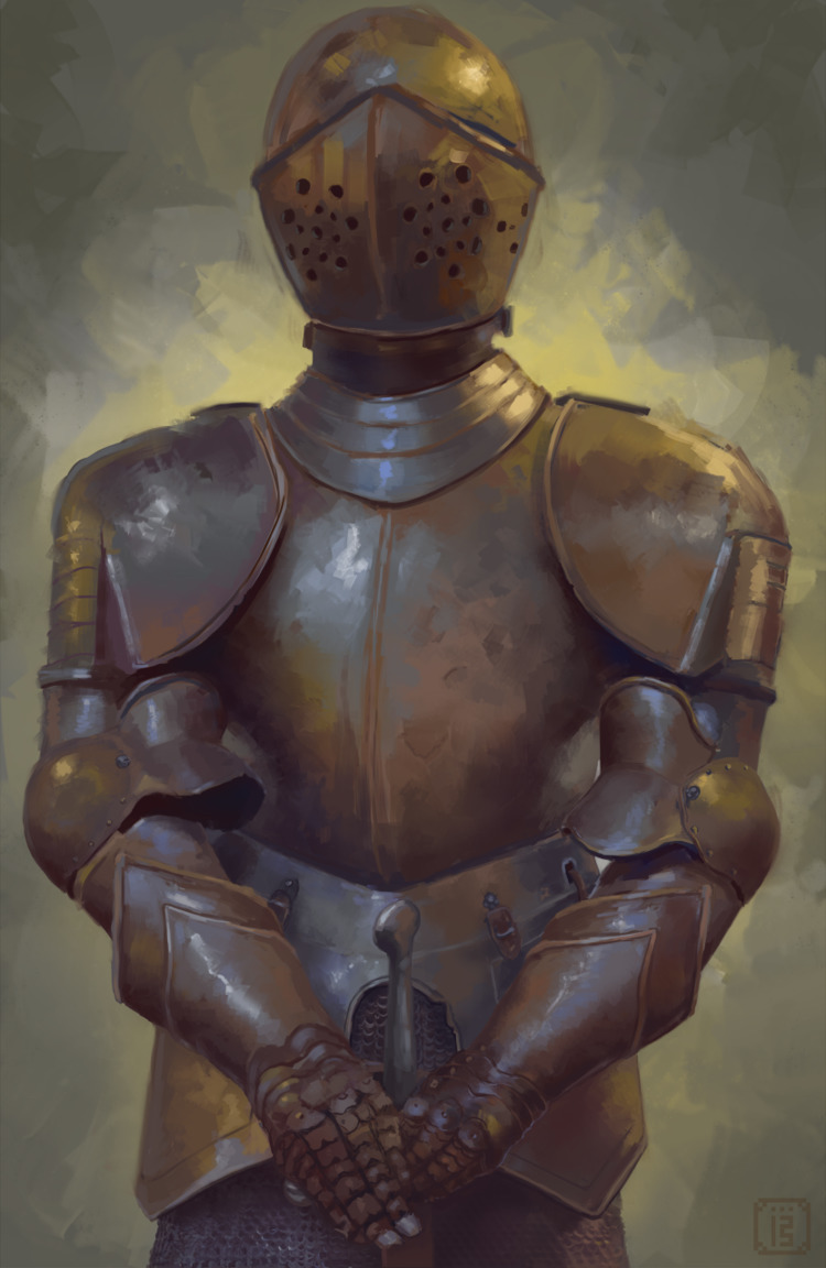 Metal surface study - armor, digital - malthus_wolf | ello
