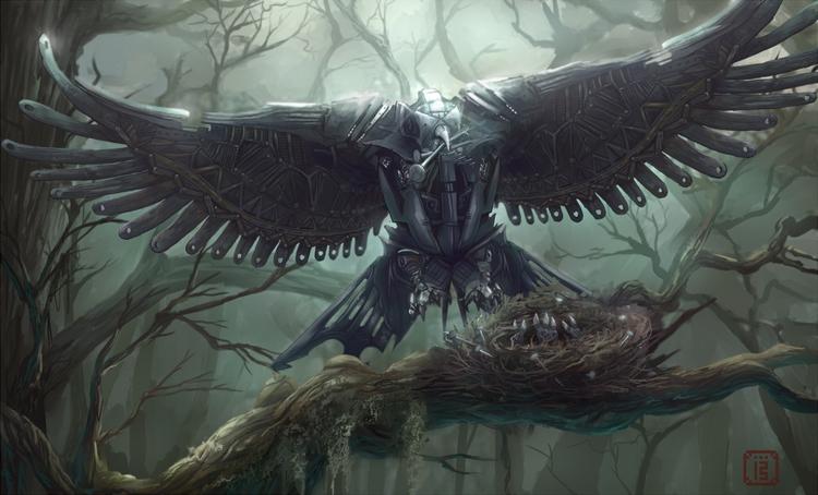 Aves metallum - inspired pair b - malthus_wolf | ello