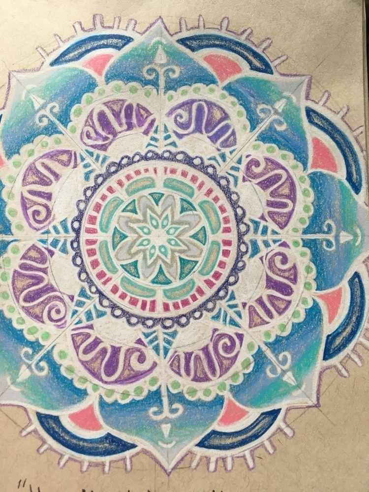 mandala, love lines white - art - she_draws_for_love | ello