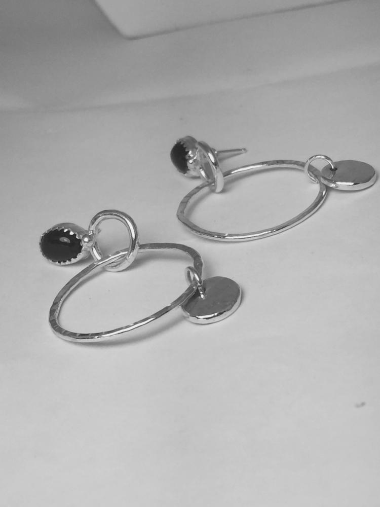 love hoops, Sterling silver bla - joylarose   ello