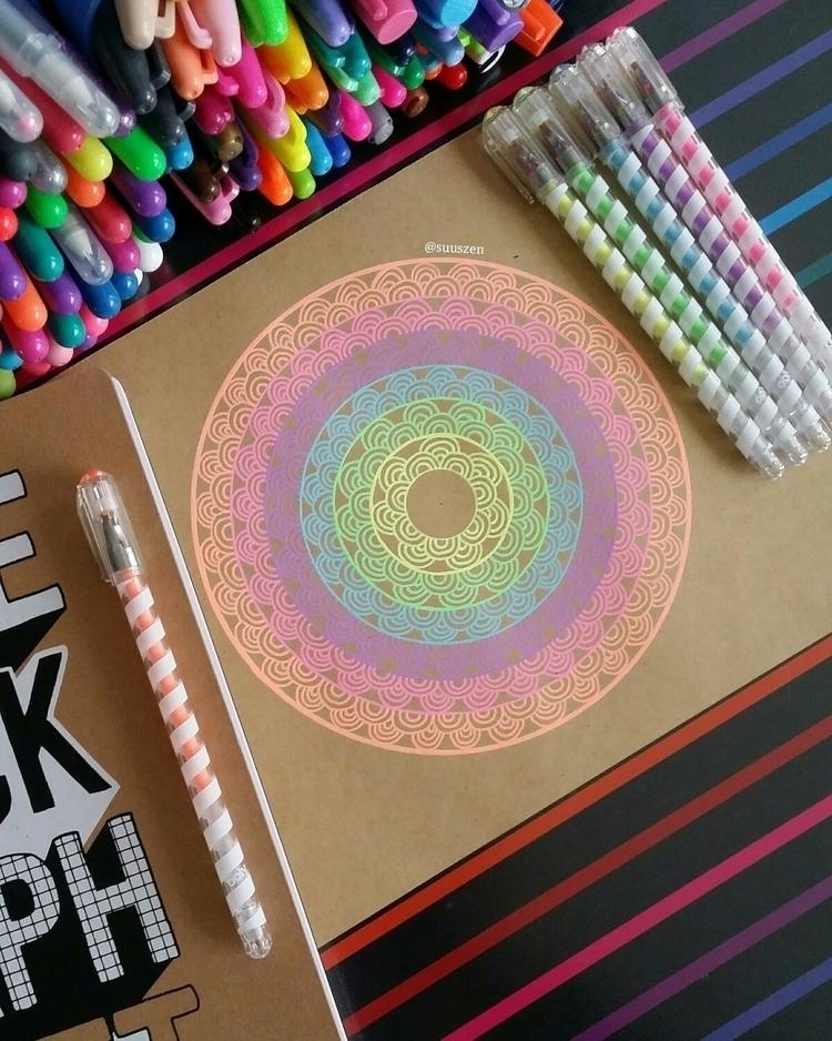 colorful mandala kraft paper Tu - suuszen | ello