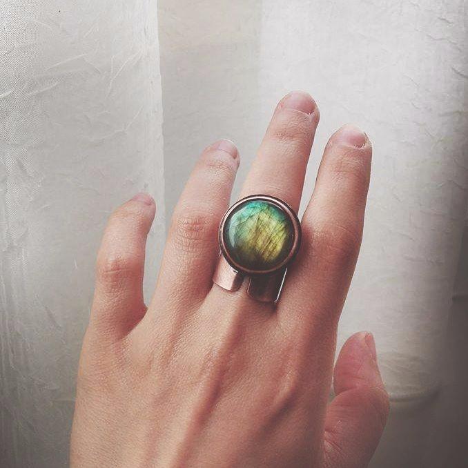 Statement Labradorite ring size - twistedjewelry | ello
