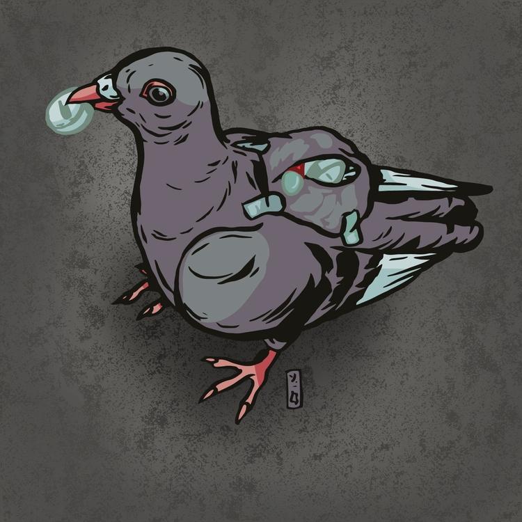 Pill Pushing Pigeon Customs off - thomcat23 | ello