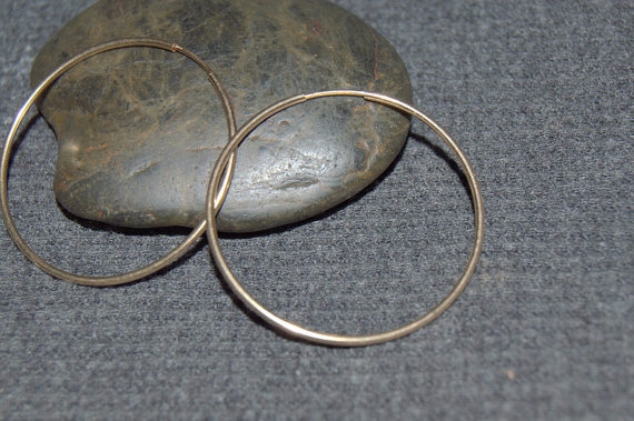 Gold hoop earrings! ![img-drop - silveririsjewelry | ello
