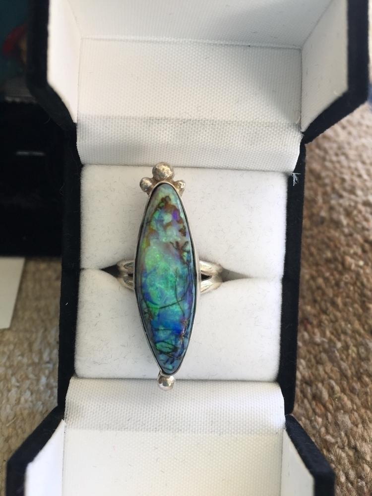 Beautiful Monet Opal, size 7 ri - pearlsandspursstudio | ello