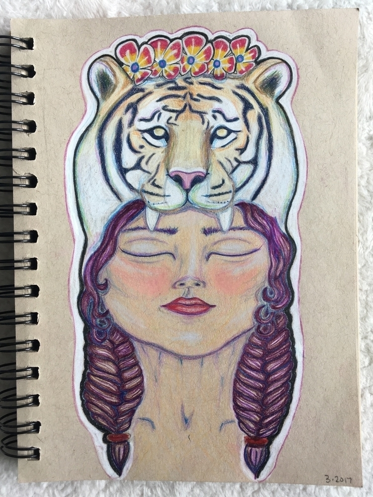 Sharing picture pretty lady - rawr - she_draws_for_love | ello