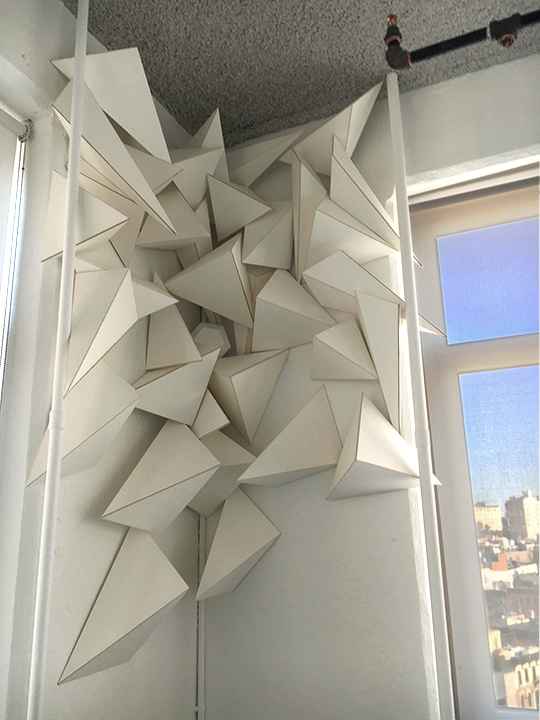 installation, tetrahedrons, projections - babytetra | ello