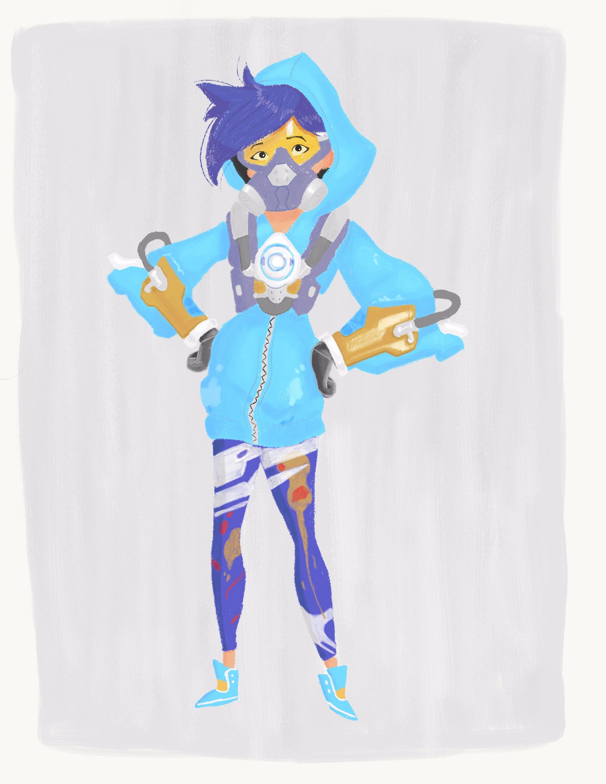 Tracer Overwatch wearing Graffi - heyradish | ello