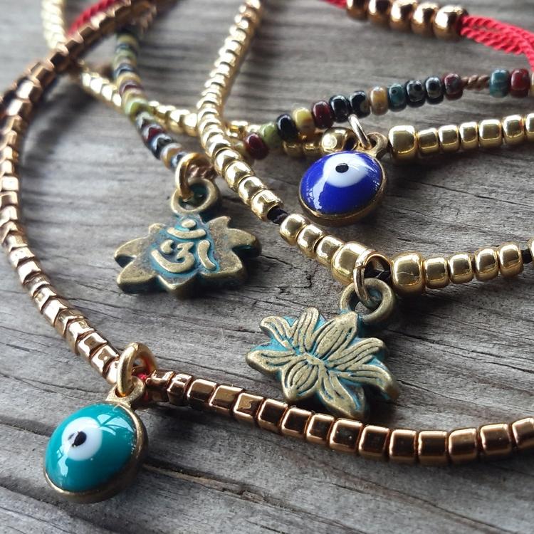 Silk Adjustable Bracelets - evileye - initiallybad | ello