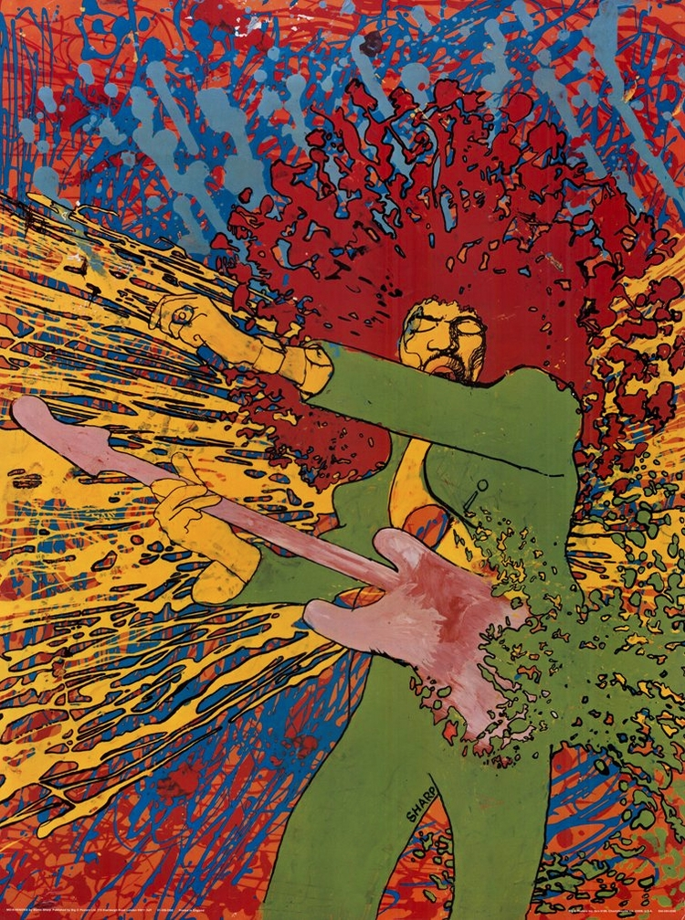 """Exploding Hendrix"" (1968) Mart - johnrezas | ello"