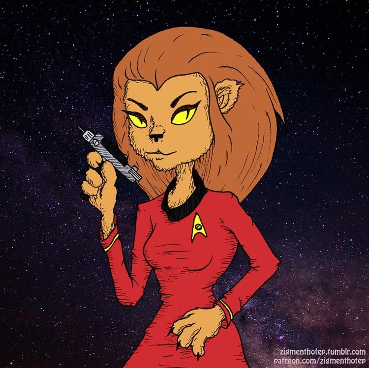 Lt. starship Enterprise - fanart - zigmund   ello