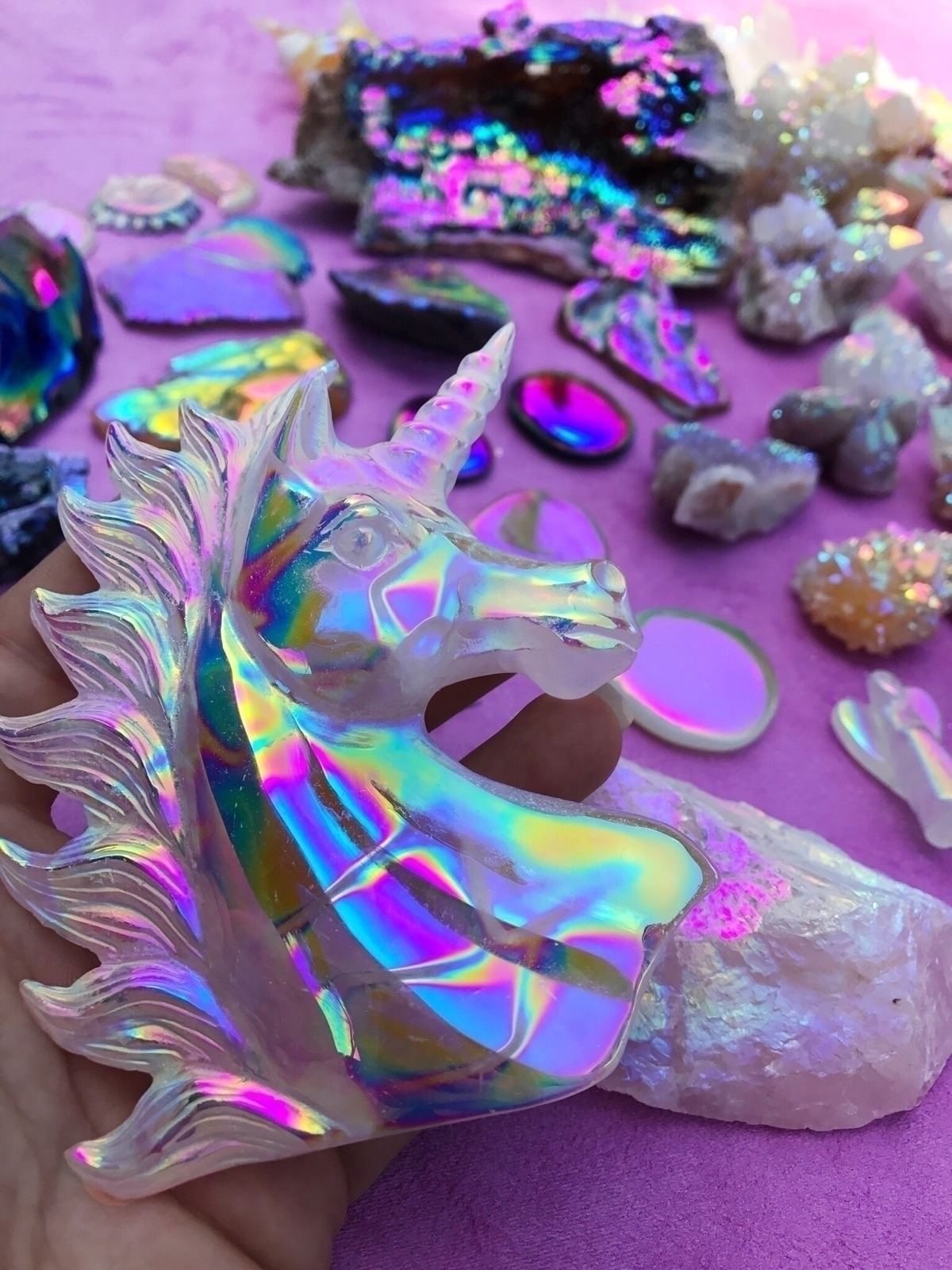 Crystal Unicorn covered - crystal - aurafy | ello