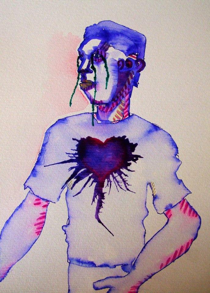 Watercolour/Pen - euric   ello