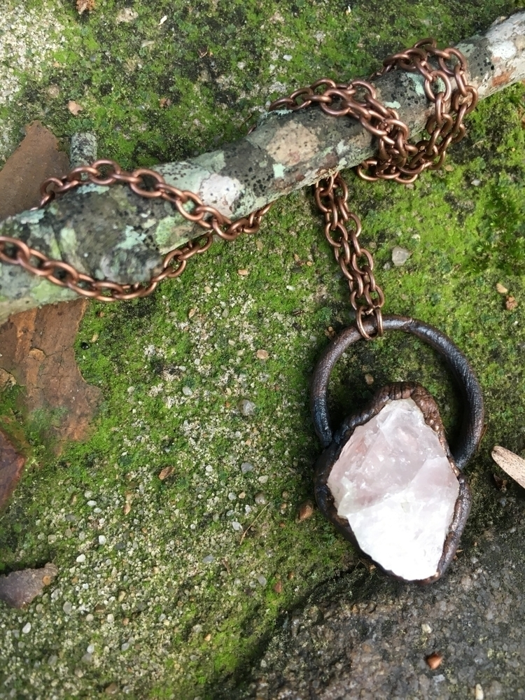 rosequartz, quartz, electroforming - verdigrisdesign | ello