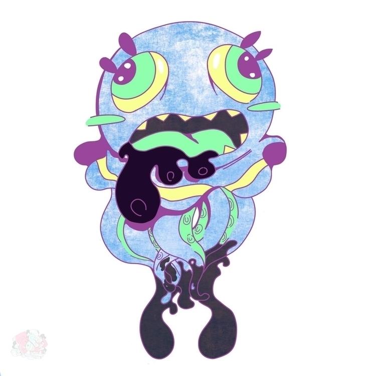 Jellyfish sticker - jelly, jellyfish - superfoostar | ello