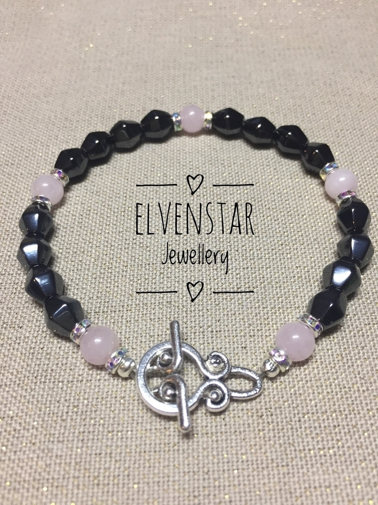Beautiful hematite, rose quartz - elvenstarjewellery | ello