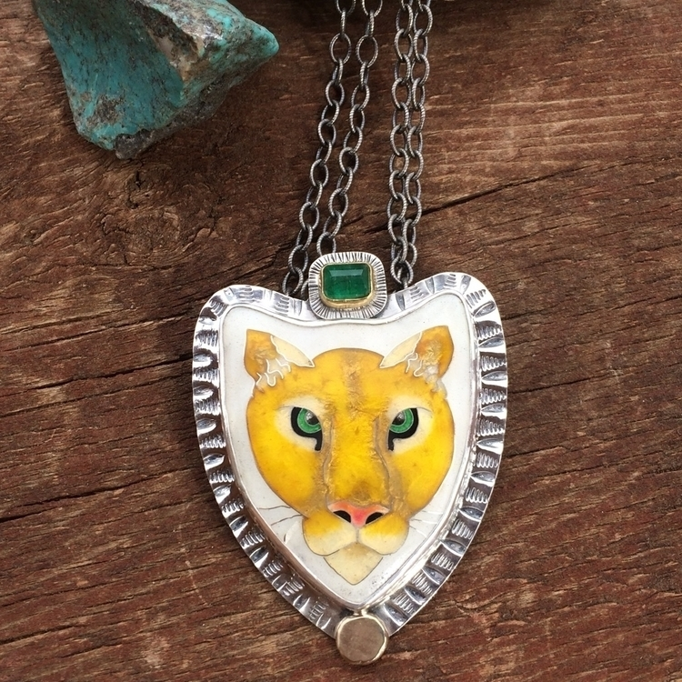 Mountain lion spirit animal nec - julieglassmanjewelry | ello