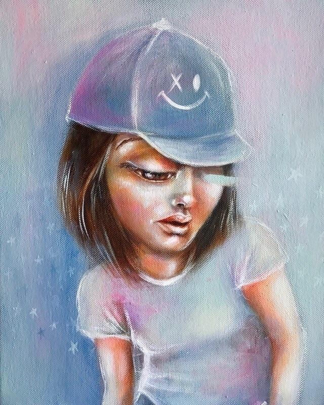 Kid XO Acrylics canvas - art, painting - caropepe_ | ello
