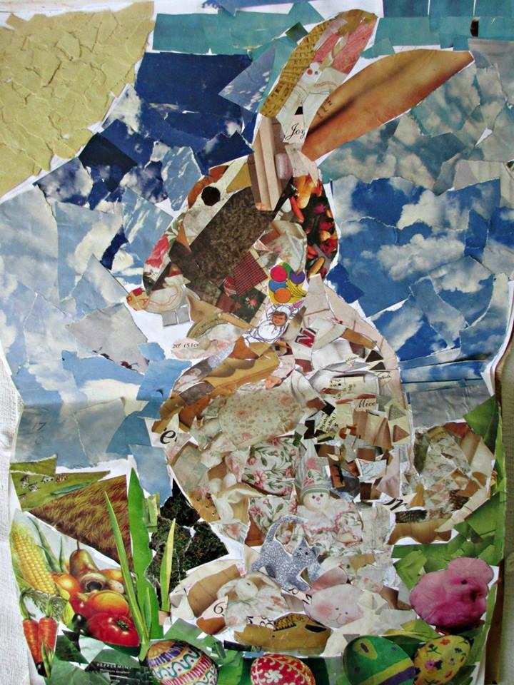 Easter Rabbit Collage Secondary - daba_davisual | ello