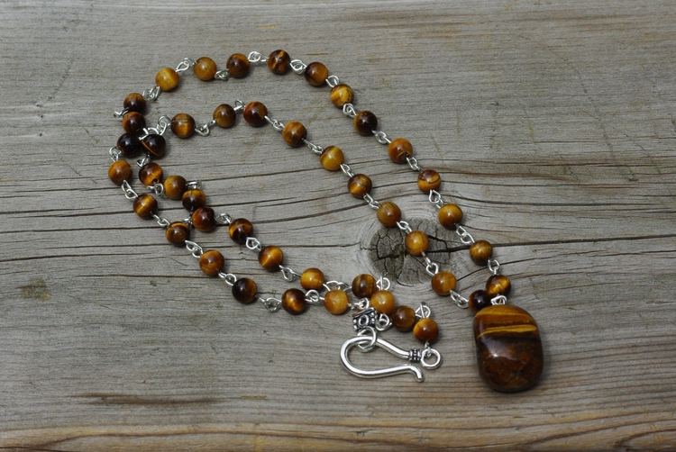 Tiger eye hand wired necklace.  - audacitywear | ello