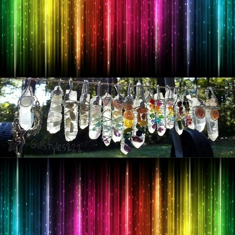 colorful, crystal, quartz, pendant - illstyles222 | ello